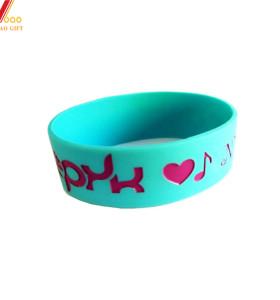 Portable Waterproof Custom Silicone Bracelet