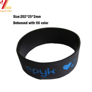 Custom Debossed Logo Colorful Silicone Bracelet