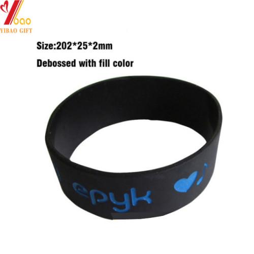 Pulsera de silicona colorida con logotipo de Debossed personalizado