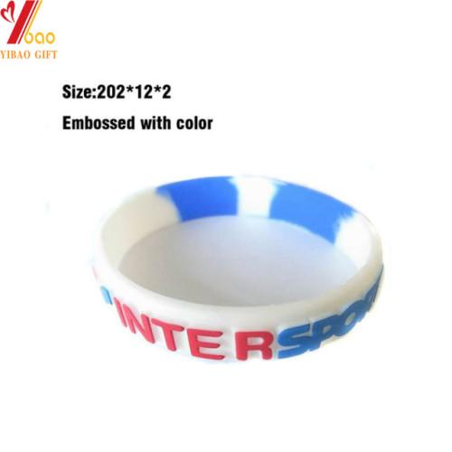 Custom Debossed Logo Colorful Silicone Bracelet