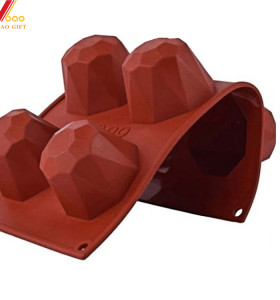3D Wine Red Silicone Cake Mold Baking Decoration Tools Pudding Mousse Mould