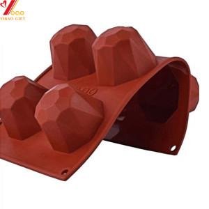 Moule de gâteau de silicone rouge de vin 3D faisant cuire la décoration outils moule de mousse de pudding