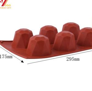 3d molde de bolo de silicone vermelho molde de cozimento decoração ferramentas pudim mousse