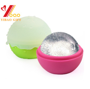 Large Ice Ball Mold, Flexible Silicone Ice Ball Tray for Cold drink lovers, Round Ice Ball Spheres