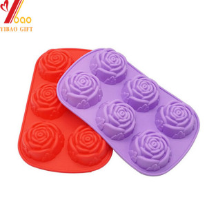 O sabão feito sob encomenda do silicone de Rosa molda a fábrica das ferramentas de decoração do bolo dos moldes do bolo do silicone do queque do bolo do silicone do cubo de gelo fornecedor