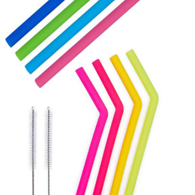 BPA Free Straw Long Collapsible Smoothie; Tumbler Straws - Eco Friendly