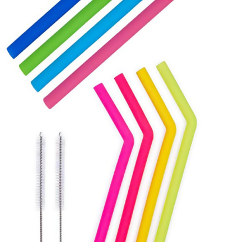 BPA Free Straw Long Smoothie plegable; Pajas de vaso - Eco Friendly