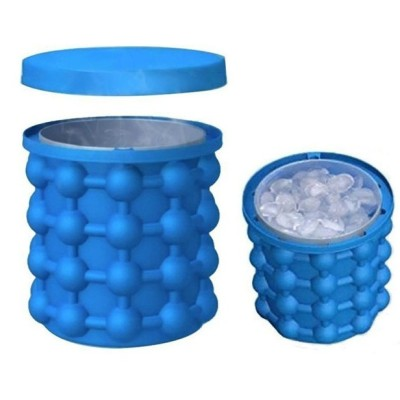 Ice Bucket,Large Silicone Ice Bucket & Ice Mold with lid