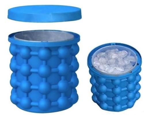 Ice Bucket,Large Silicone Ice Bucket & Ice Mold with lid