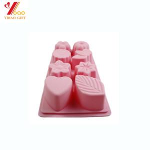 Molde feito sob encomenda Eco-amigável do sabão do molde do bolo do silicone do molde dos doces