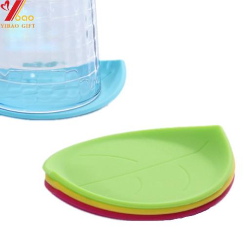 Práctico de goma encantador de la taza de la forma de hoja práctico de costa práctico de goma de la taza