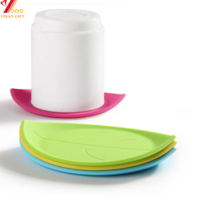 Silicone Lovely Leaf Shape Cup Coaster Creative Rubber Cup Coaster