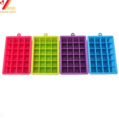 Custom 100pcs Shot Glass Mould Diamond Shape Silicone Ice Cube Tray