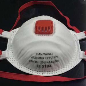 Suministro de fábrica CE desechable FFP3 máscara de polvo ffp3 máscara de respirador en stock