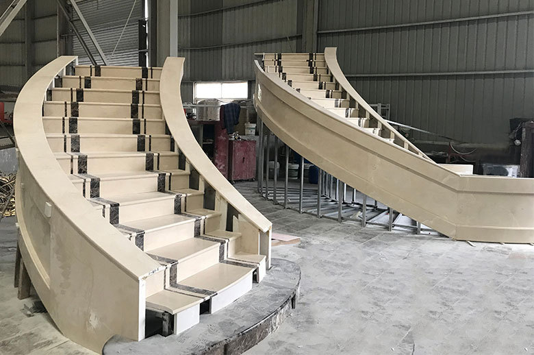 Qatar Office Building mable stairs