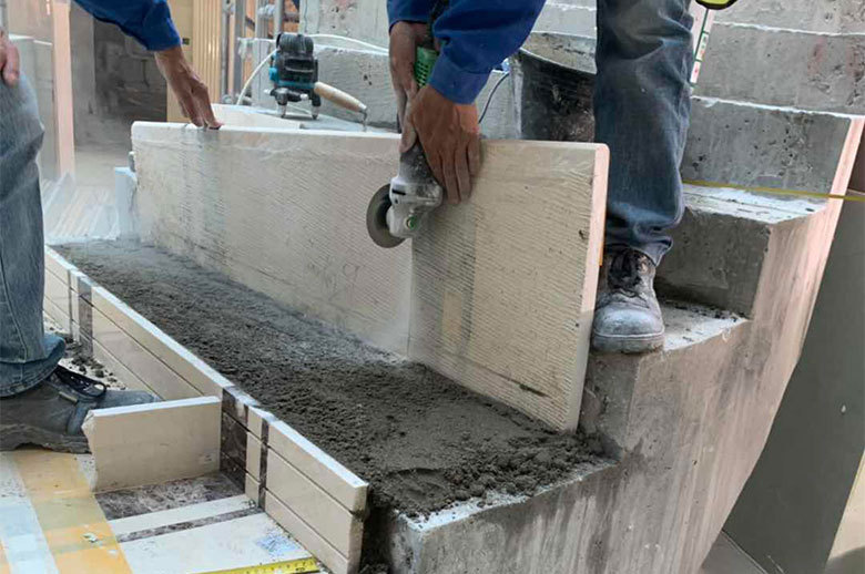 Qatar Office Building mable stairs installation