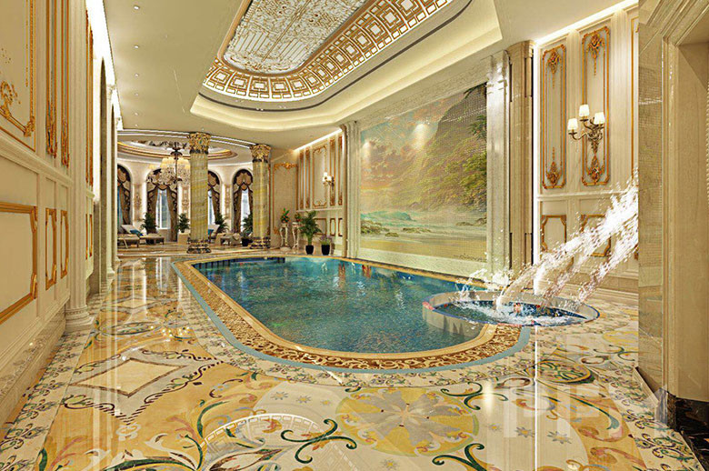 Chechnya swimming pool arer design