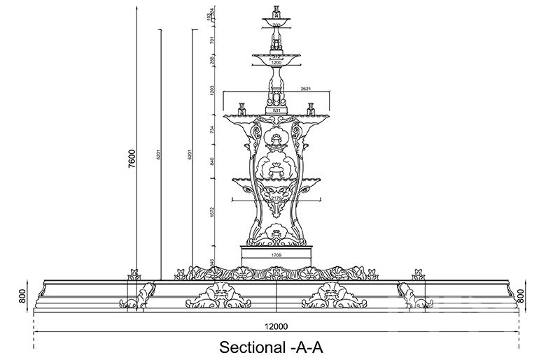 large marble fountain design