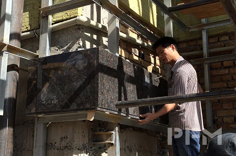 Tajikistan SPA HAYOT granite exterior wall cladding