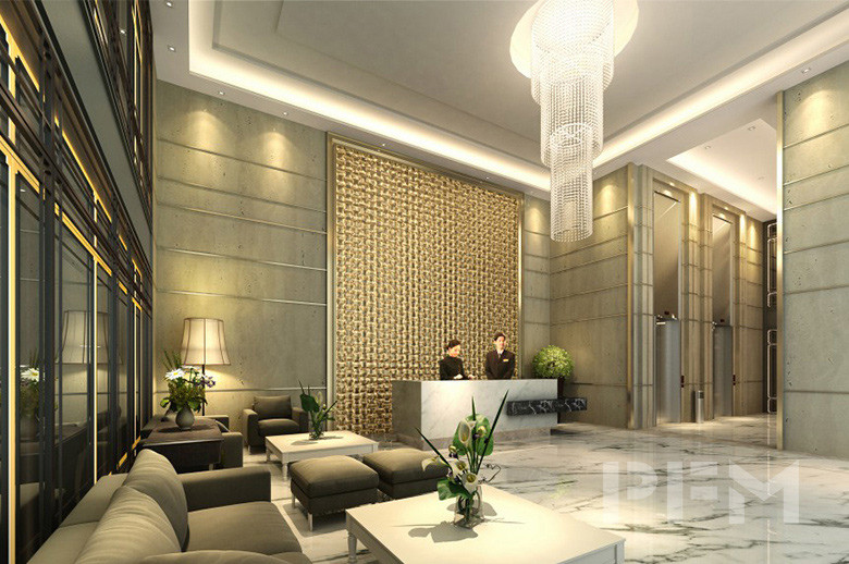 Diamond Twin Tower reception hall design