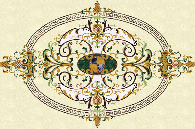 Le Chateau Palace marble waterjet floor
