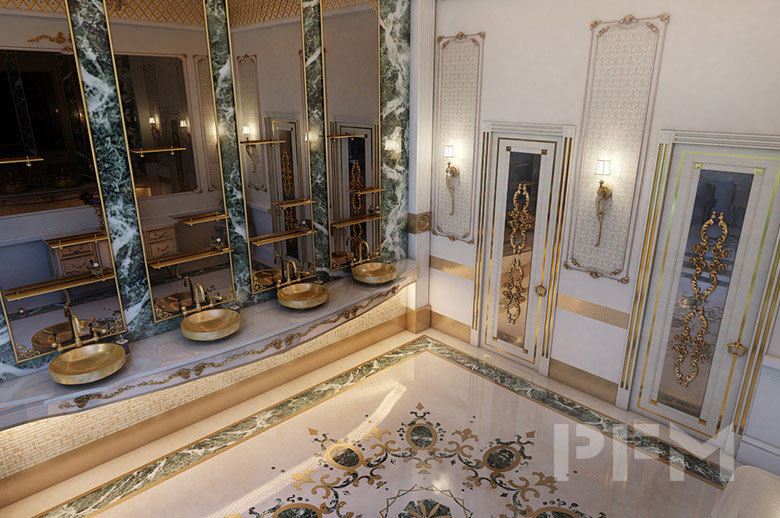Private Palace and Majlis Project interior wall design