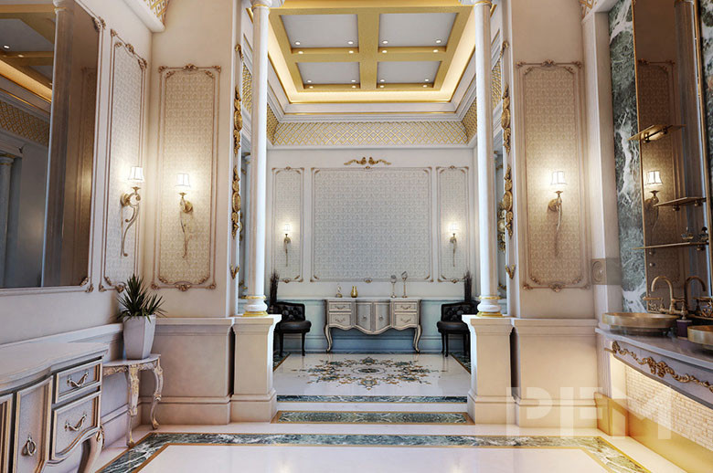 Private Palace and Majlis Project interior wall and floor design