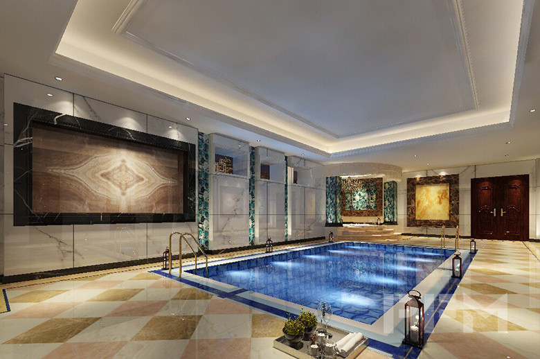 Tajikistan Private Villa indoor swimming pool design