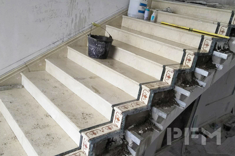 Tajikistan Private Villa stairs installation