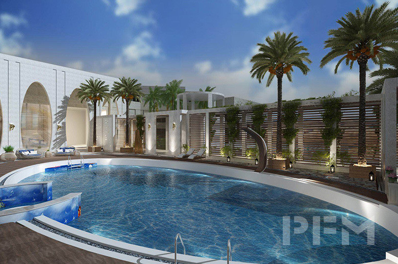 DOHA MODERN PALACE PROJECT swimming pool design