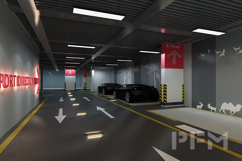 DOHA MODERN PALACE PROJECT parking area design