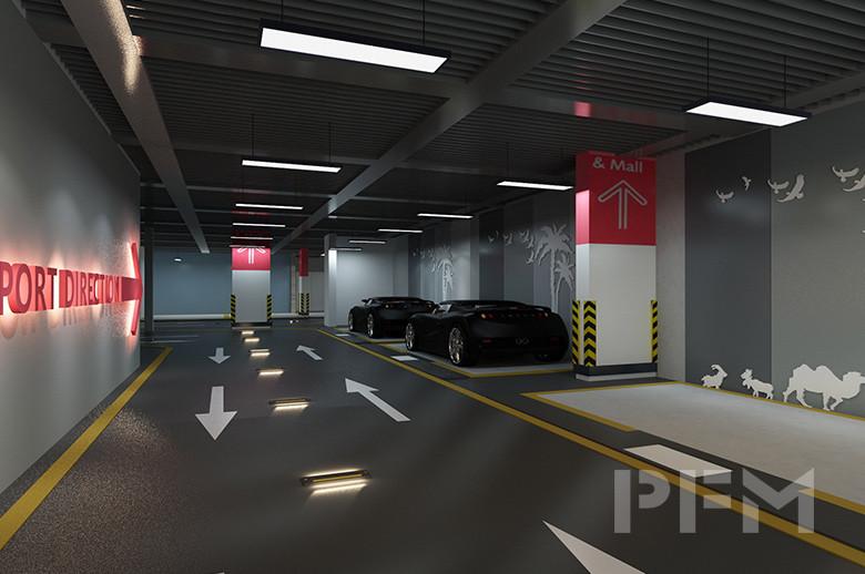 DOHA MODERN PALACE PROJECT parking area design