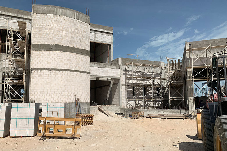 DOHA MODERN PALACE PROJECT exterior wall cladding installation