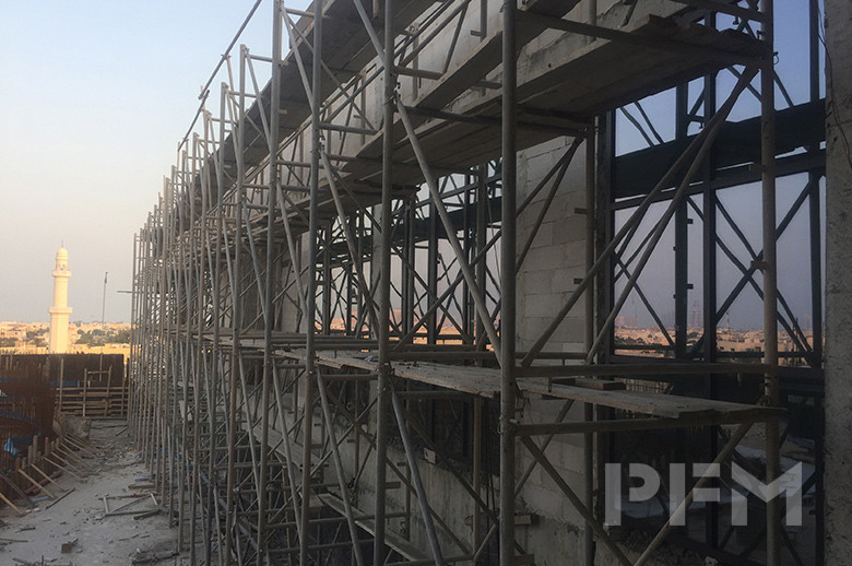 DOHA MODERN PALACE PROJECT exterior wall cladding installtion