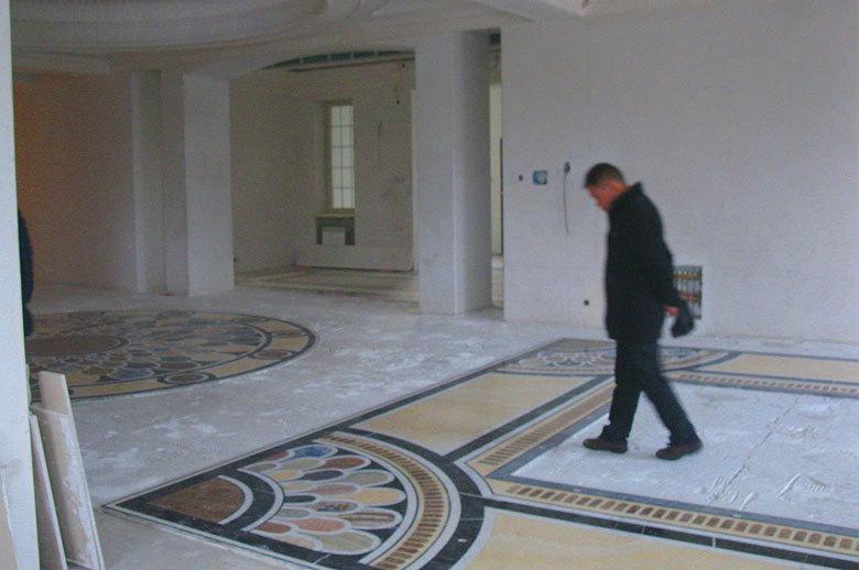 marble waterjet medallion floor