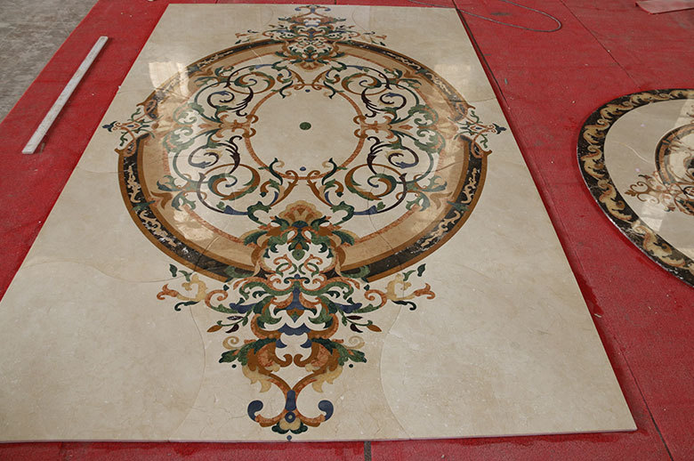 marble waterjet medallion floor