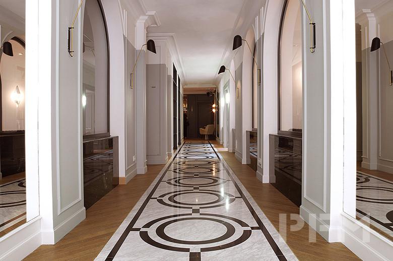 Hotel Bachaumont waterjet marble floor