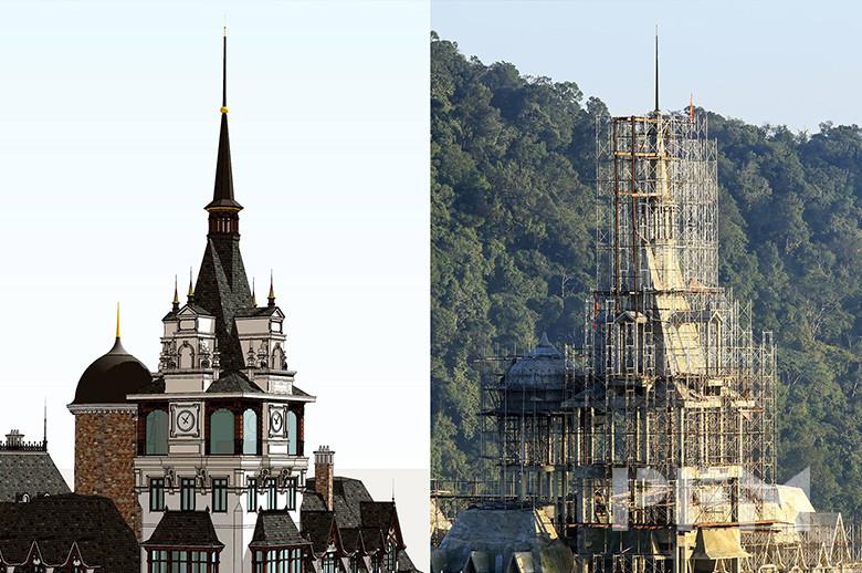 Tam Dao Castle project design