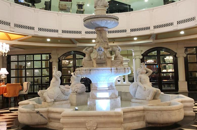 Jaipur Five Star Hotel indoor marble fountain