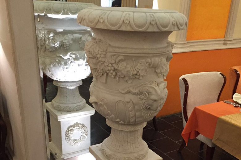 Jaipur Five Star Hotel marble flower pot