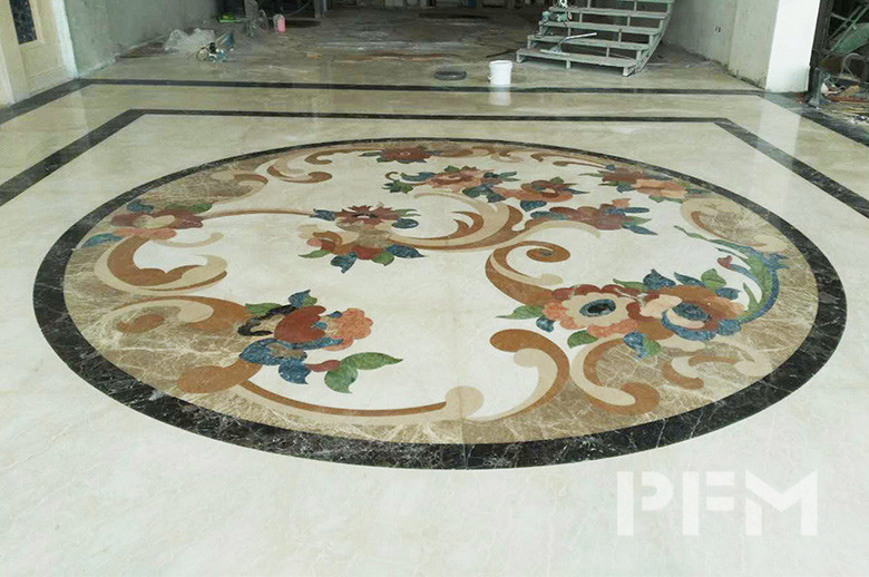 Riyadh Showroom marble waterjet floor