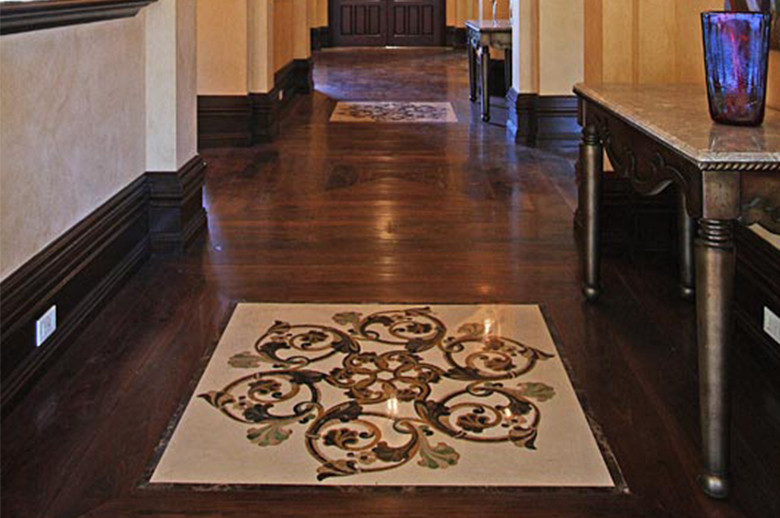 gallary waterjet medallion floor