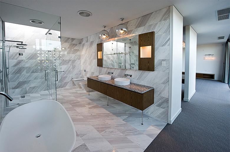 bathroom volakas white marble wall and flooring