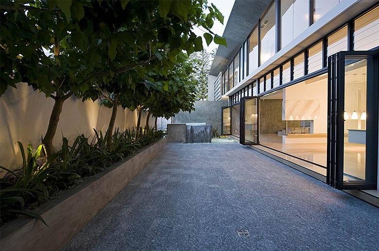 outdoor granite floor