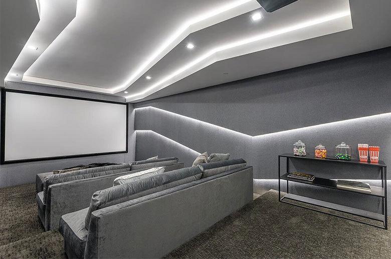 Kagawa Modern Residence home theater design