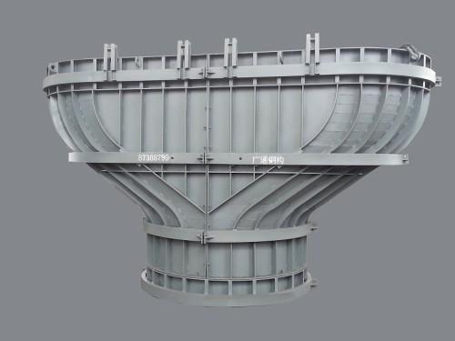 新浇混凝土形成的钢结构桥墩模板