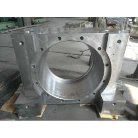 Mecanizado de precisión de fundición Asiento de cojinete de acero fundido grande y duradero
