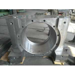 Casting and finishing large and durable cast steel bearing housing
