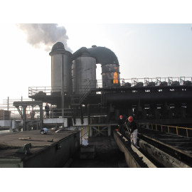 Gran equipo de maquinaria de horno de coque de protección del medio ambiente vehículo de eliminación de humo y polvo