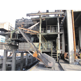 Supply of supporting equipment for large coke ovens, new double-track Coke stopping car